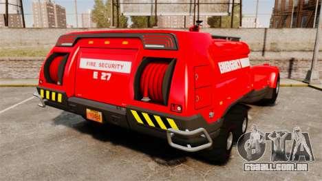 Pro Track SR2 Firetruck [ELS] para GTA 4 traseira esquerda vista