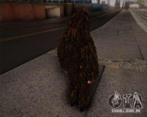 O atirador de pele de Arma 2 para GTA San Andreas segunda tela