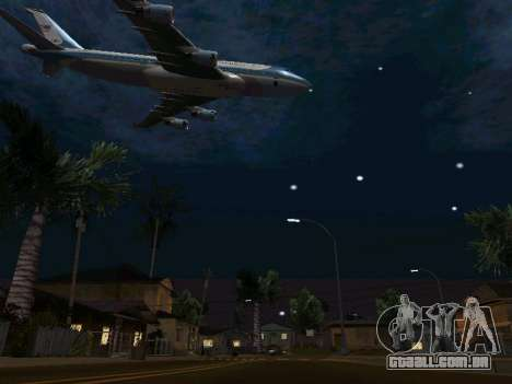 Boeing-747-400 Airforce one para GTA San Andreas vista superior