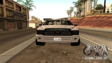 Bison de GTA 5 para GTA San Andreas traseira esquerda vista
