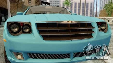Chrysler Crossfire para GTA San Andreas vista traseira