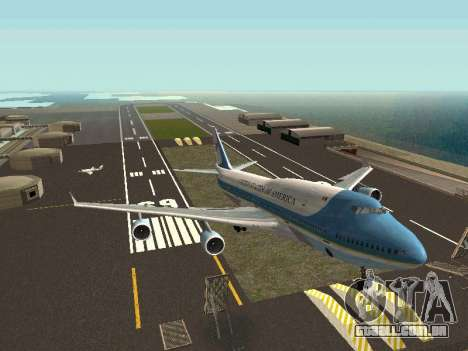 Boeing-747-400 Airforce one para GTA San Andreas vista direita