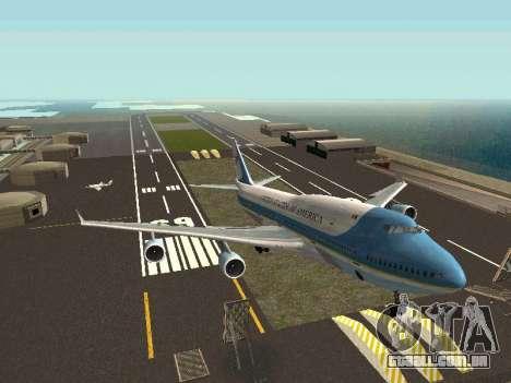 Boeing-747-400 Airforce one para GTA San Andreas vista direita