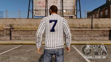 Camisola-New York Yankees - para GTA 4 segundo screenshot