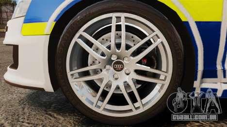 Audi RS6 Avant Metropolitan Police [ELS] para GTA 4 vista de volta