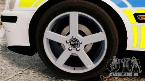 Volvo S60R Police [ELS] para GTA 4 vista de volta