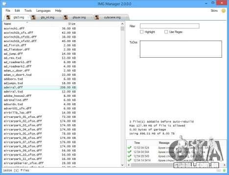 IMG Manager 2.0 para GTA San Andreas segunda tela