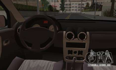 Dacia Logan para GTA San Andreas vista inferior