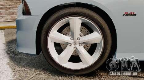 Dodge Charger 2012 para GTA 4 vista de volta