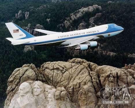 Boeing-747-400 Airforce one para GTA San Andreas interior