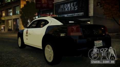 Dodge Charger LAPD 2008 para GTA 4 traseira esquerda vista