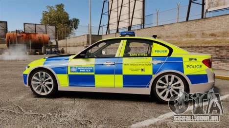 BMW F30 328i Metropolitan Police [ELS] para GTA 4 esquerda vista