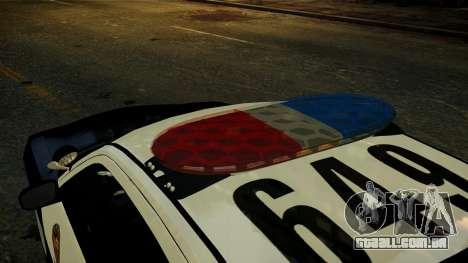 Dodge Charger LAPD 2008 para GTA 4 vista de volta
