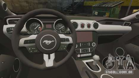 Ford Mustang GT 2015 Police para GTA 4 vista de volta