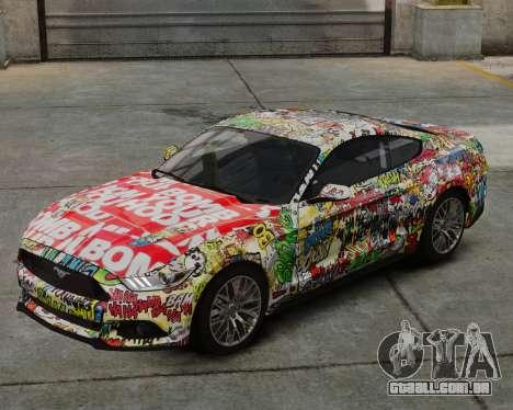 Ford Mustang GT 2015 Sticker Bombed para GTA 4
