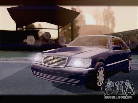 Mercedes-Benz S600 V12 V1.2 para GTA San Andreas vista direita