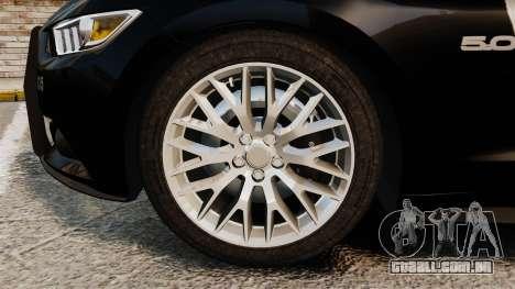 Ford Mustang GT 2015 Police para GTA 4 vista interior