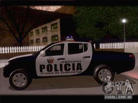 Mitsubishi L200 POLICIA para GTA San Andreas vista traseira