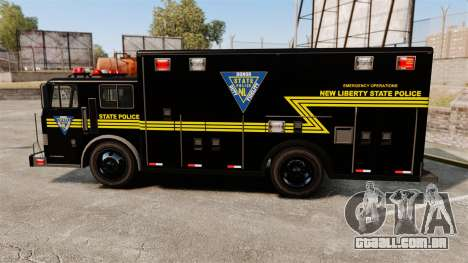 Hazmat Truck NLSP Emergency Operations [ELS] para GTA 4 esquerda vista