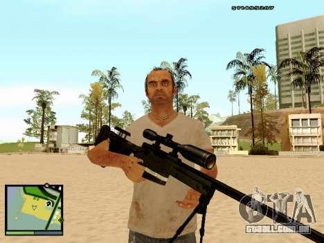L115A3 Sniper Rifle para GTA San Andreas por diante tela