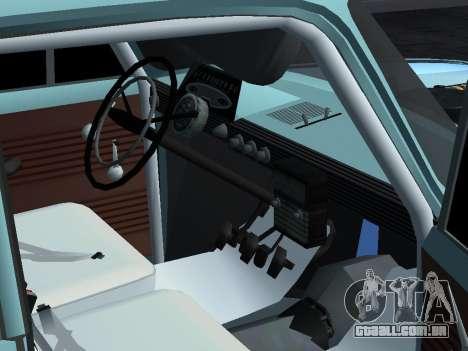 Rally Moskvich 412 para GTA San Andreas vista direita