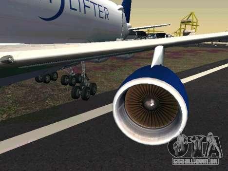 Boeing-747 Dream Lifter para GTA San Andreas esquerda vista