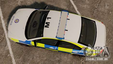Volvo S60R Police [ELS] para GTA 4 vista direita