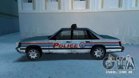 BETA Police Car para GTA Vice City deixou vista