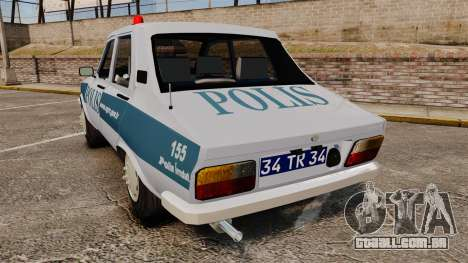 Renault 12 Turkish Police [ELS] para GTA 4 traseira esquerda vista