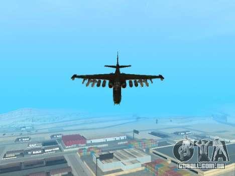 Su-25 para GTA San Andreas traseira esquerda vista