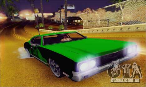 Modified Sabre Low para GTA San Andreas vista interior