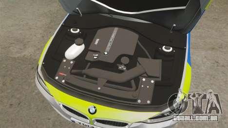 BMW F30 328i Metropolitan Police [ELS] para GTA 4 vista interior