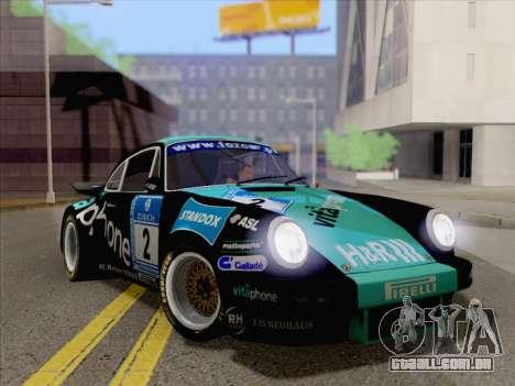 Porsche 911 RSR 3.3 skinpack 2 para GTA San Andreas vista direita