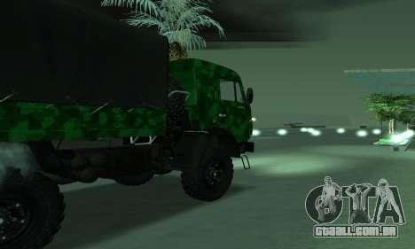 Exército KAMAZ 4310 para GTA San Andreas esquerda vista