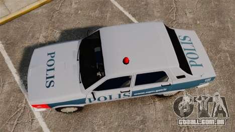 Renault 12 Turkish Police [ELS] para GTA 4 vista direita
