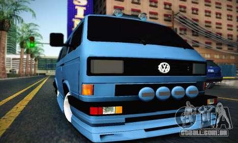 Volkswagen Transporter T2 Tuning para GTA San Andreas esquerda vista