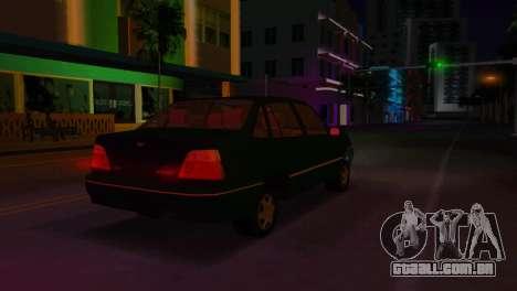 Daewoo Cielo para GTA Vice City vista traseira
