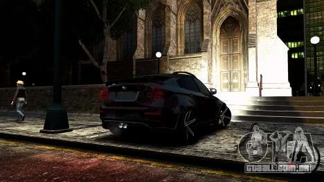 BMW X6 M Hamann 2013 Vossen para GTA 4 vista lateral