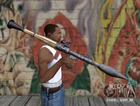 Lançador de míssil de um Stalker para GTA San Andreas terceira tela