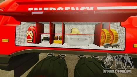 Pro Track SR2 Firetruck [ELS] para GTA 4 interior