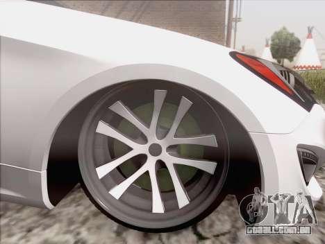 Hyundai Genesis Stance para GTA San Andreas traseira esquerda vista