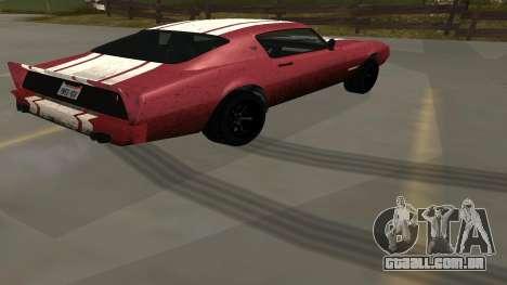 Phoenix de GTA V para GTA San Andreas esquerda vista
