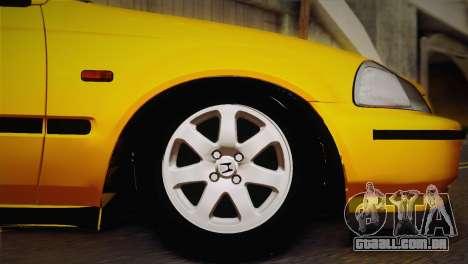 Honda Civic 1.4is TMC para GTA San Andreas vista direita