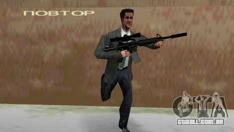 M4 com a arma de Sniper para GTA Vice City por diante tela