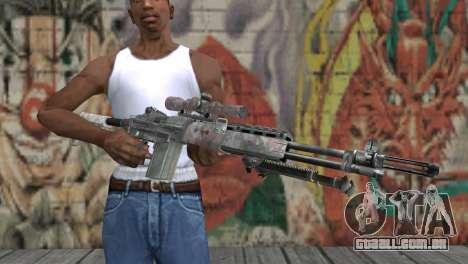 M14 EBR para GTA San Andreas terceira tela