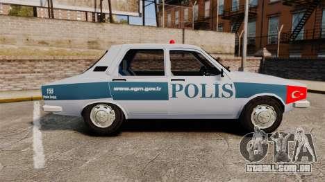 Renault 12 Turkish Police [ELS] para GTA 4 esquerda vista