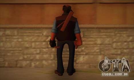 Atirador de pele de Team Fortress 2 para GTA San Andreas segunda tela