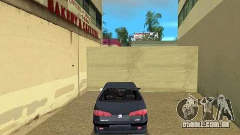 Peugeot 607 V6 para GTA Vice City vista traseira esquerda