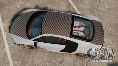 Audi R8 GT Coupe 2011 Drift para GTA 4 vista direita