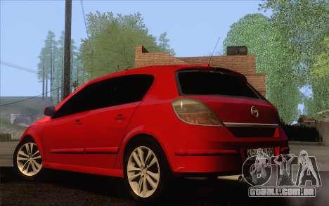 Opel Astra H para GTA San Andreas esquerda vista